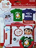 Elf on the Shelf Graphic Tee Multipack with 3 elf-sized t-shirts and keepsake tin suitcase
