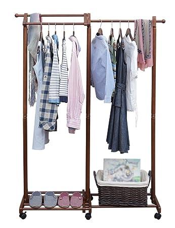 Kreative Garderobe amazon de standfuß hängegestell garderobe massivholz kleiderbügel