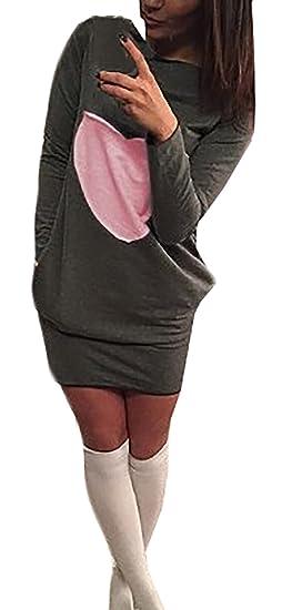 Vestiti Donna Eleganti Abiti Da Cerimonia Autunnali E Invernali Manica  Lunga Tubino Pacchetto Hip Corti Abito f7f4cc672f4