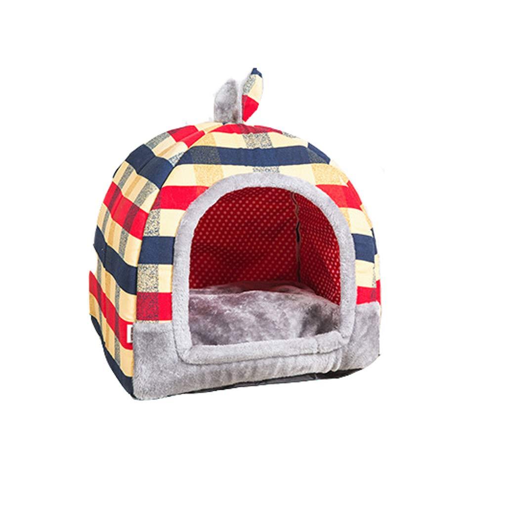 B Large B Large Kennel, Removable Washable Dual-purpose Warm Kennel Four Seasons Pet Nest Cat Litter Teddy Keji Pet Dog House (color   B, Size   L)