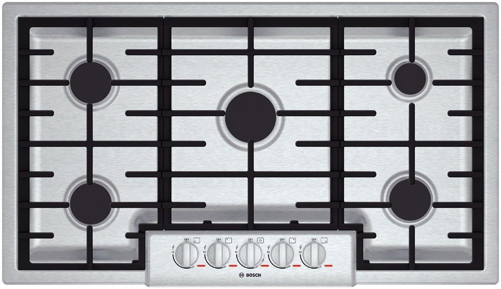 "Bosch NGMP655UC: 36"" Gas Cooktop Benchmark Series - Stainless Steel"