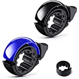 ANLEM Bike Bell, Two Pack Portable Bicycle Bell Invisible Horn Accessories Design Bicycle Handlebar Ring for Mountain Bike an
