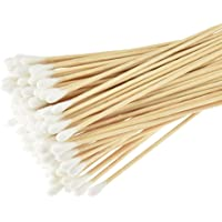 Cotton Tip, (Pack of 4/Total 400 pcs) Swabs Long, Cotton Swabs with Wooden Handles, Cleaning Single-Tipped Cosmetic Tool…