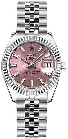 Amazon.com Women\u0027s Rolex Lady,Datejust 26 Pink Dial Steel