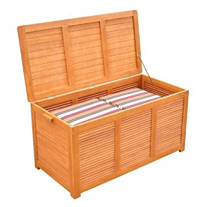 Superbe GT Patio Deck Box Eucapiptus Hardwood Deck Box Outdoor Patio Storage Boxes  Ottoman Patio Deck Cubby