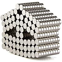 DIYMAG Refrigerator Magnets Premium Brushed Nickel Fridge Magnets, Office Magnets - 6 X 3mm, Pack of 100