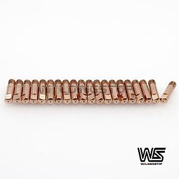 20pcs Tubo Contacto 1.0 mm Ref 140.0253 para Binzel MB 15 AK MIG consommables antorcha de soldadura: Amazon.es: Bricolaje y herramientas