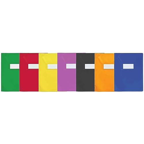 ELBA Protège-cahier School Life 15/100eme 240 x 320 mm avec Porte etiquette Orange