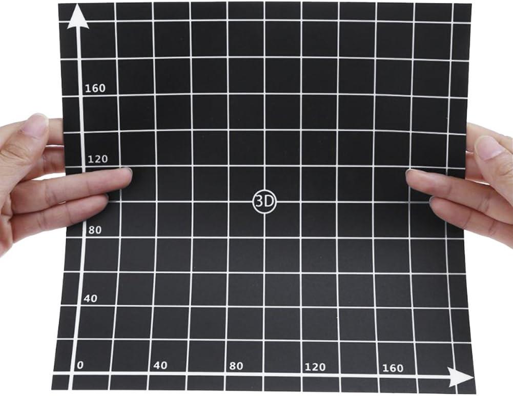 SONGER 3pcs Etiqueta Engomada de Cama Caliente de Impresora 3D Superficie de Construcci/¨/®n de cama de Impresi/¨/®n Etiqueta engomada 220mm x 220mm x 0.5mm with Coordinate