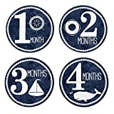 Baby Monthly Stickers - Nautical Milestone Month