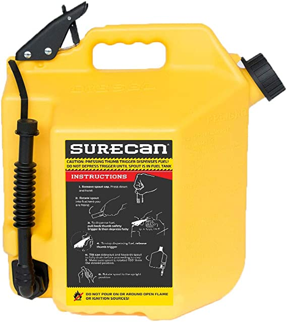 5.0 Gallons SureCan Diesel Gas Can with Rotating Spout