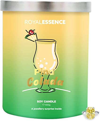 Surprise 925 Sterling Silver Jewellery Valued at /£50 to /£3,000 Ring Size 10 Royal Essence Pina Colada Jewellery Candle