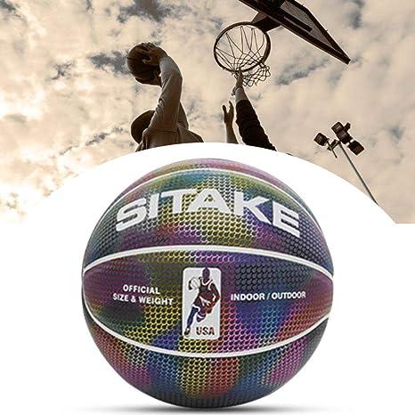 auspilybiber Baloncesto Luminoso No.7, Baloncesto Reflectante ...