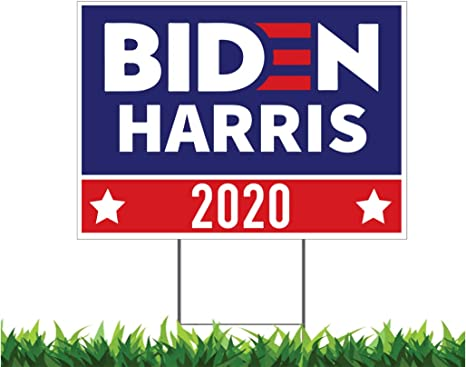 Campaign V4 18x24-inch Yard Sign Election Outdoor, Weatherproof Corrugated Plastic Political Metal Stake Included Moonlight4225 Biden Harris 2020 USA President
