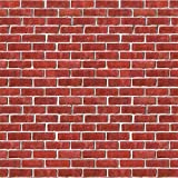 Pack of 6 Printed Holiday Red Brick Wall Backdrop 4' x 30'