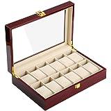 木製 腕時計収納 ボックス 12本用 コレクション ケース ディスプレイ ピアノラッカー
