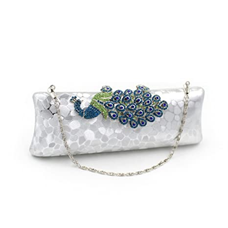 YAN Mujeres Clutch Rhinestone Classic Sobre Embrague Bolso de Hombro Tarde Bolso Purse Club Cocktail Party