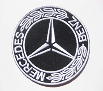 mercedes benz logo motor auto sew iron on patch badge embroidery 75 cm 3