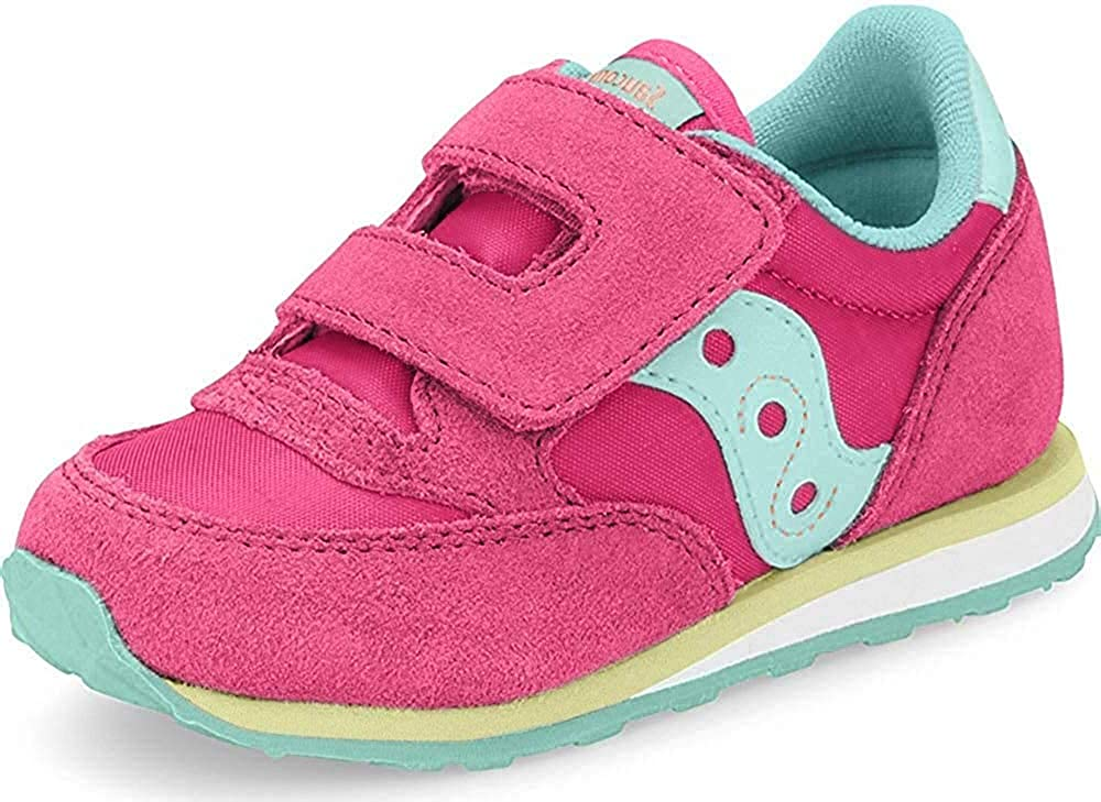 Saucony low-pricing Little Kid Big Sneaker National uniform free shipping Grid Fusion Hook-And-Loop
