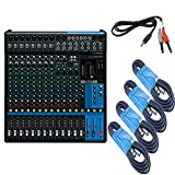 Yamaha MG16XU 16-Channel Analog USB Mixer with Effects + 4 x 20-Foot XLR Cables + 1 x Stereo Breakout Cable + Cubase AI Software