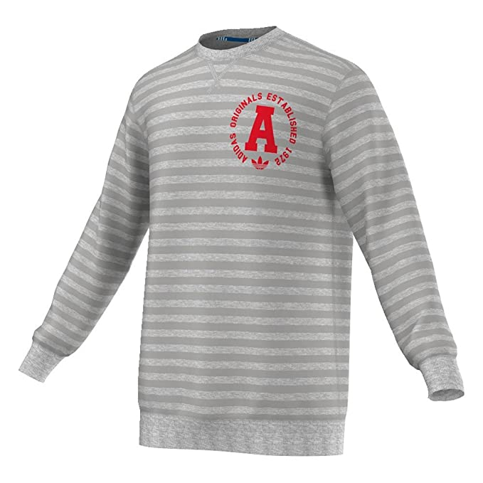 adidas Originals - Sudadera para Hombre, Cuello Redondo, diseño de Rayas, Hombre,