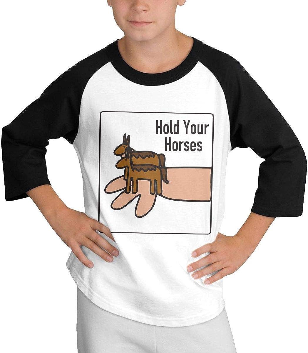 Zhuru Hold Your Horses Teen Sleeve Shoulder T