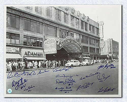 NY Rangers Autographed Madison Square Gardens 16x20 Photo - 13 Autographs - Autographed Hockey - Gardens Shops Vic