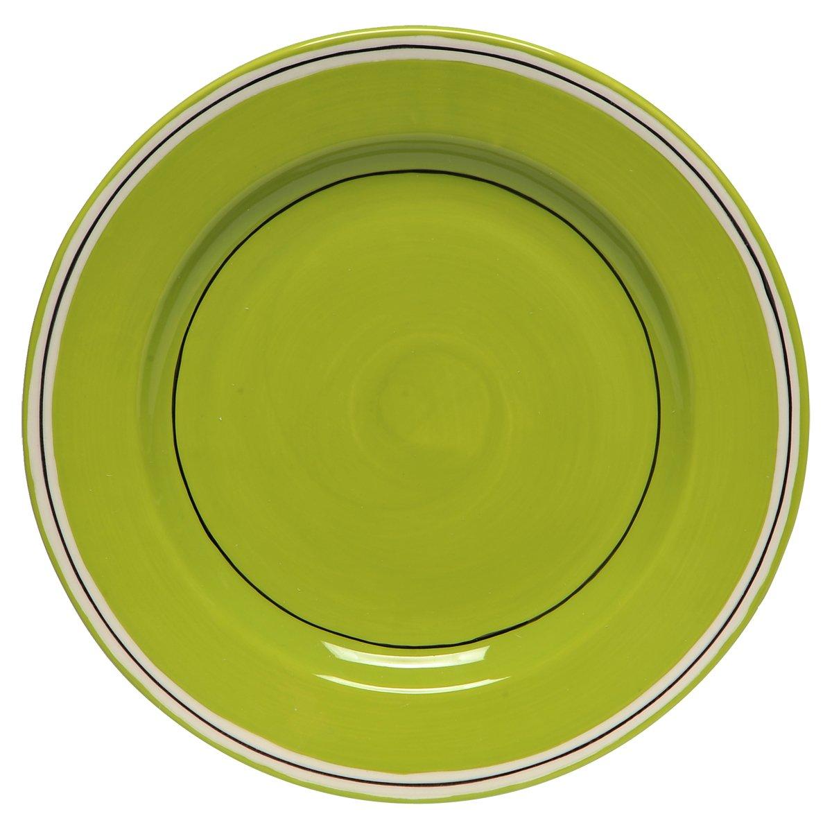 Thompson & Elm M. Bagwell Colors Ceramic Salad Plates (Set of 4), Lime Green MB825309FAGR
