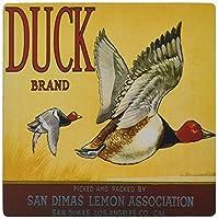 3dRose LLC 8 x 8 x 0.25 Inches Mouse Pad, Duck Brand San Dimas Lemon Association Two Ducks Flying (mp_171143_1)