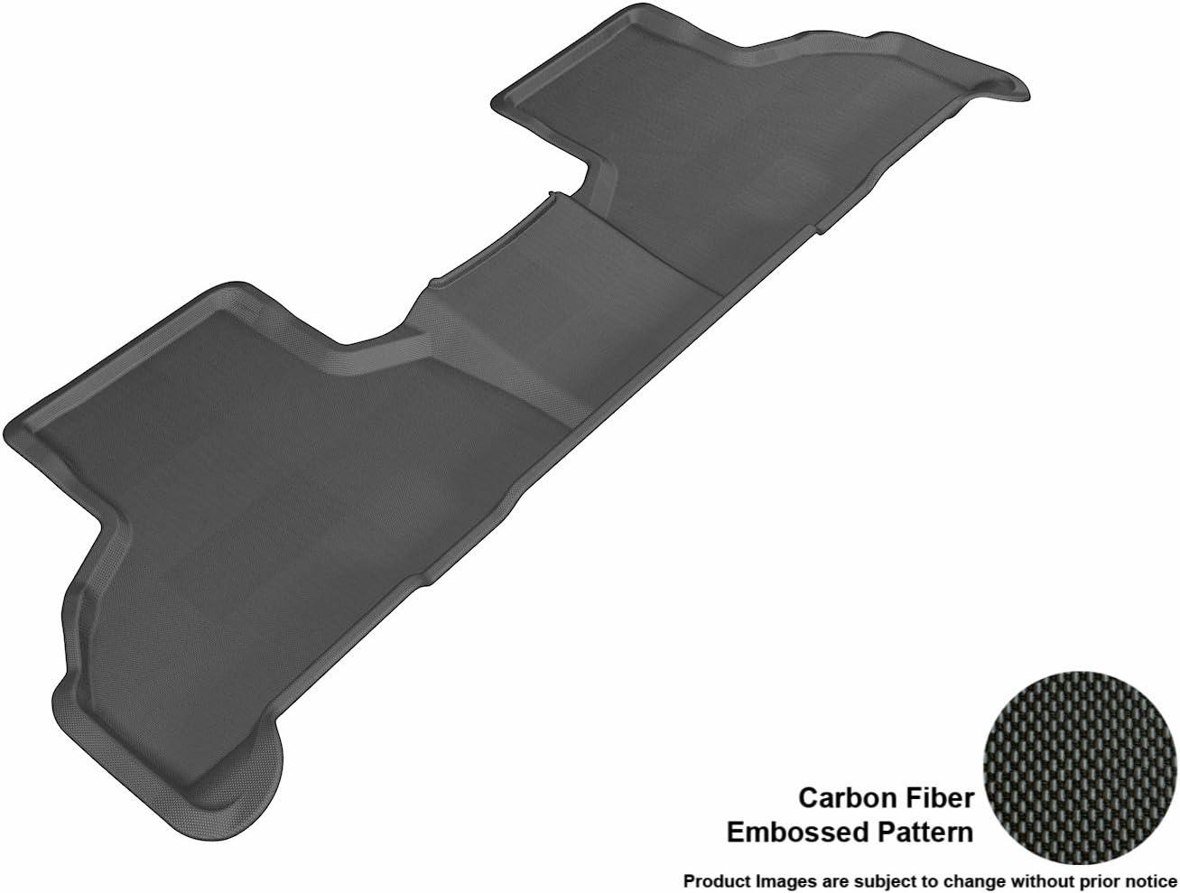 3D MAXpider L1BM05521509 Second Row Custom Fit All-Weather Floor Mat for Select BMW X5 (F15)/ X6 (F16) Models - Kagu Rubber (Black)