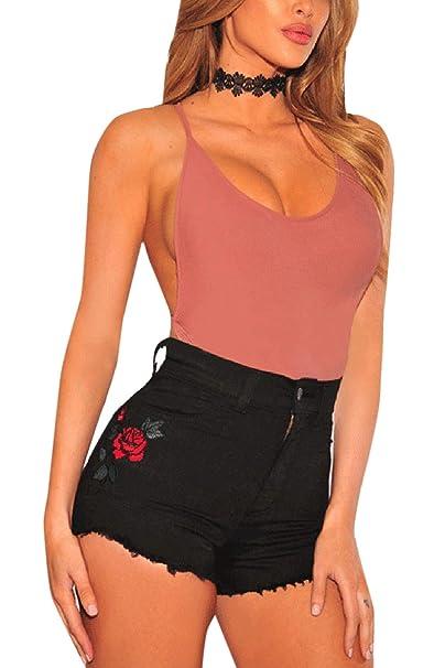 Amazon.com: Pantalones cortos de mezclilla para mujer, de ...