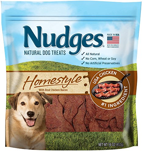 Nudges Chicken Bacon Sizzlers Dog Treats, 16 oz ()