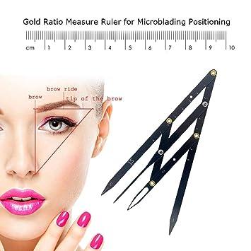 Amazon.com : Permanent Eyebrow Golden Proportional Ruler Eyebrow ...