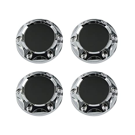 X AUTOHAUX Black 68mm Car Wheel Tyre Center Hub Caps Cover with Badge Sticker 4pcs