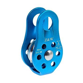 Gazechimp 20KN Polea Max 12MM Cuerda para Árbol Escalada Arborista de Aluminio de Aleación de Magnesio Fijo 3 Colores - Azul: Amazon.es: Deportes y aire ...