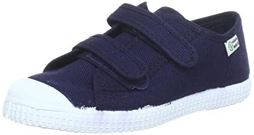 Natural World BASQUET - Zapatillas de lona niño, color azul, talla 24