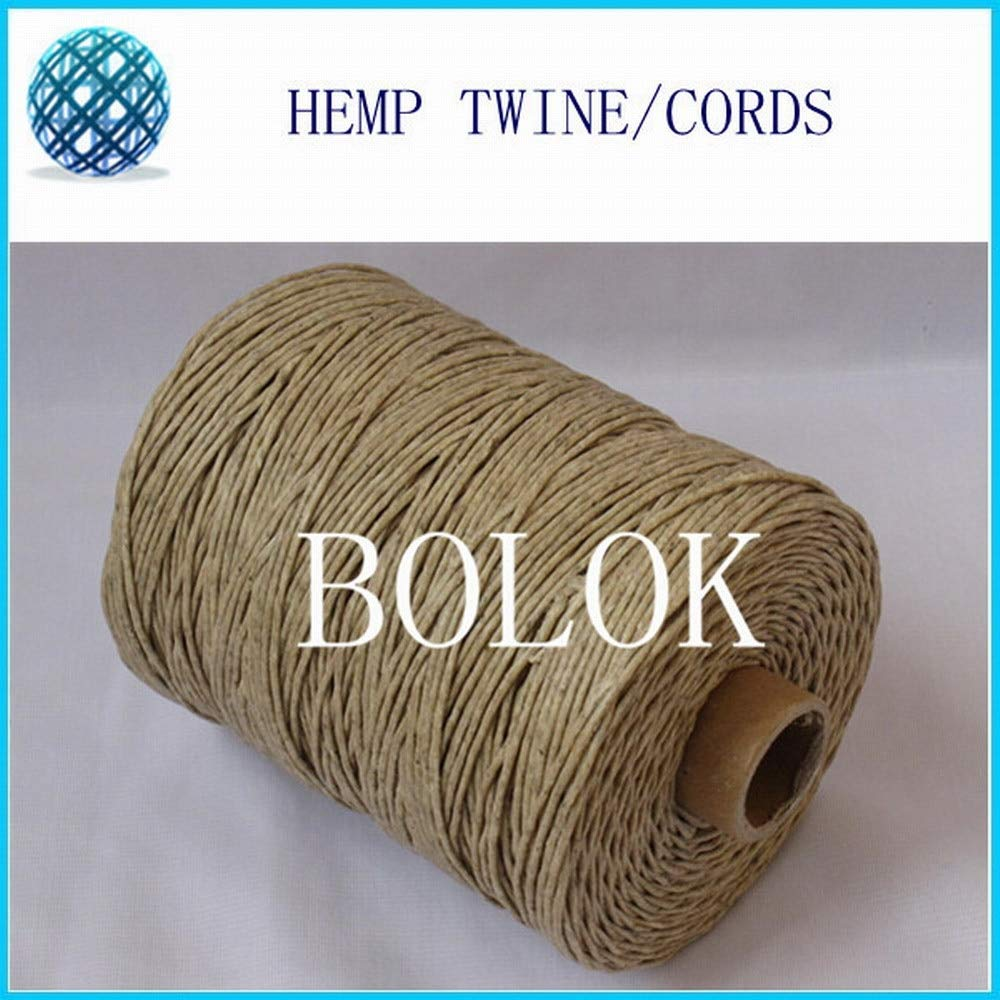 FINCOS 1.2mm beewaxed Hemp Cords 750feet,230m/spool 5pcs/lot, Total 1150m, Light Color Natural Twine by