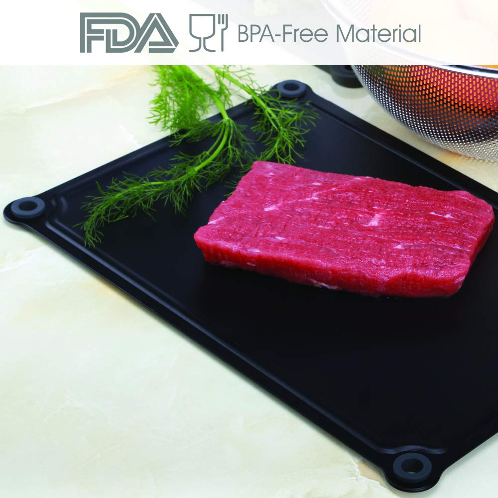 IDDOMUM Defrosting Tray, Thawing Plate for Frozen Food, Cut thawing time and thaw food naturally and faster
