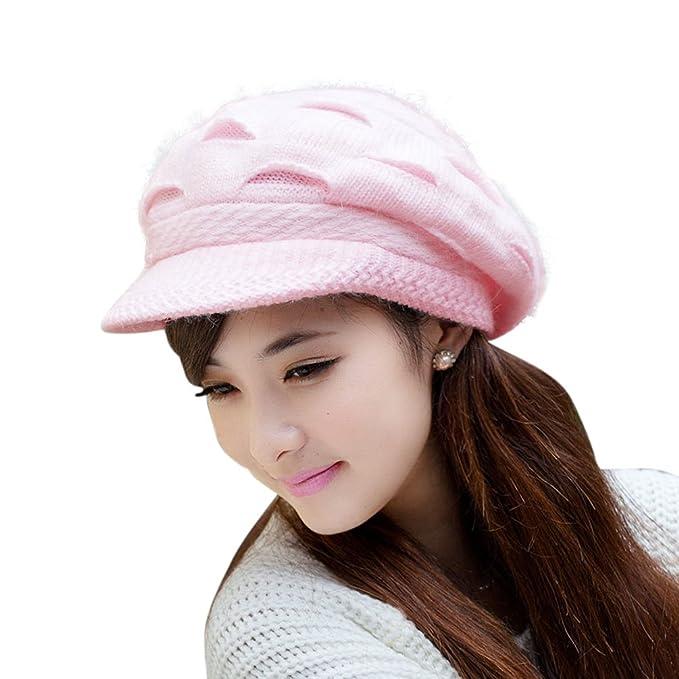HINDAWI mujeres niñas de lana para tejer nieve sombrero ganchillo invierno  Slouchy Beanie gorro  Amazon.es  Belleza 81a498a6aff