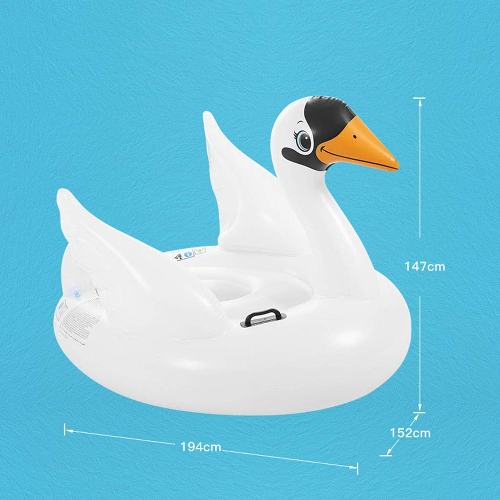 SUN HUIJIE Pool Float White Goose Inflatable Boat Children Inflatable Swimming Pool Loungers Adult Summer Fun Outdoor Pool Toys Float Raft (Size : 194152147cm) by SUN HUIJIE (Image #2)