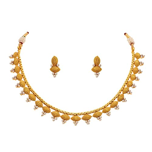 Buy Bfc Buy For Change Ethnic Pearl Design 22k One Gram Gold Plated