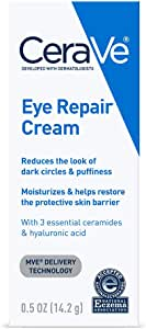 CeraVe Eye Repair Cream for Dark Circles Under Eyes and Puffiness, 0.5 oz