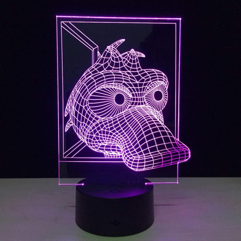 BFMBCHDJ Lámpara de ilusión de acrílico 7 colores que cambian de ...