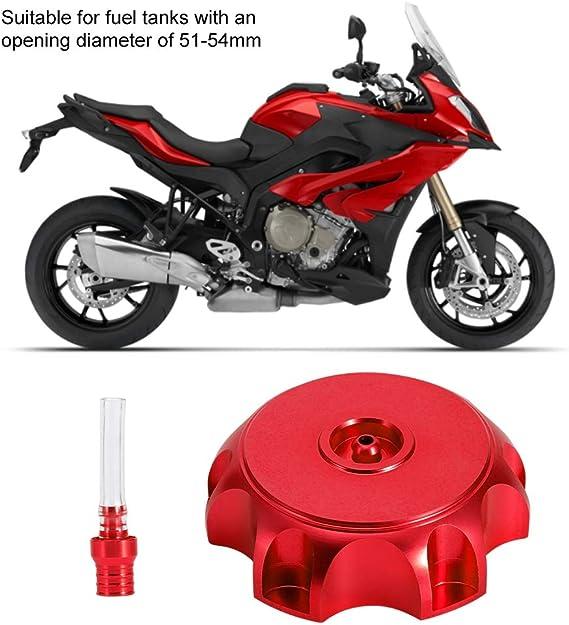 Motorrad Tankdeckel Aluminium Kraftstofftankdeckel mit Entl/üftungsschlauch f/ür die /Öffnung des Kraftstofftanks mit einem Durchmesser von 51-54 mm Orange