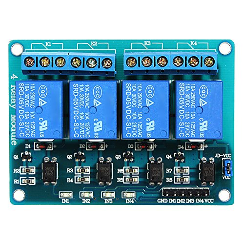 SODIAL(R)5V 4-Channel Relay Module Shield pour Arduino ARM PIC AVR DSP electronique