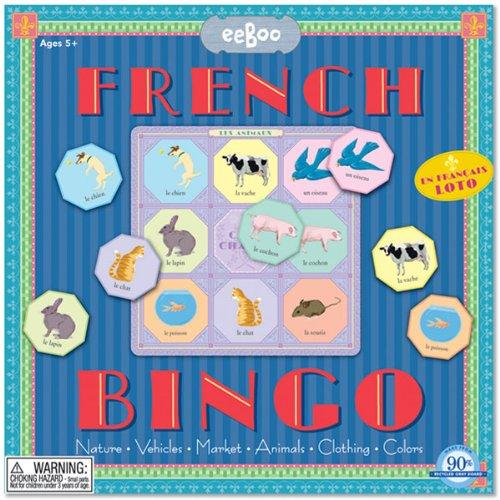 eeBoo French Bingo Game for Kids (French Bingo Game)