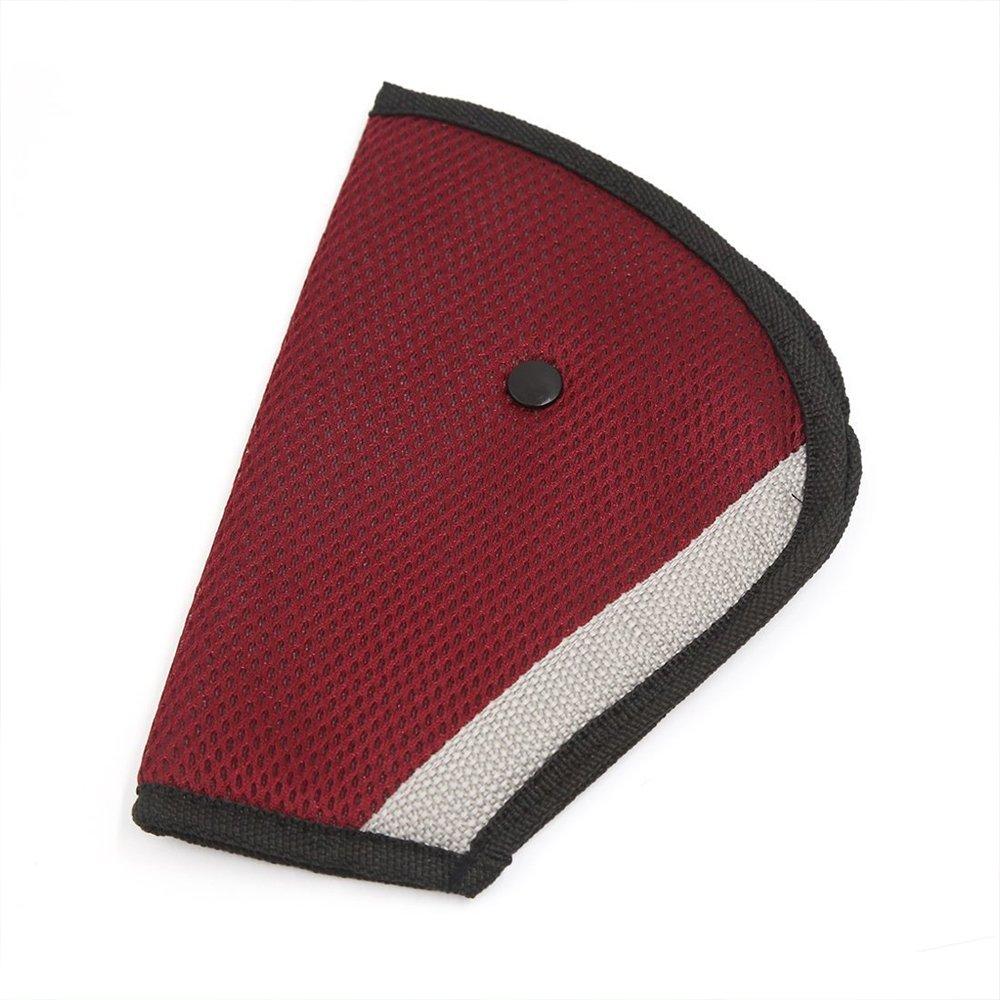 Coussin d'épaule surdimensionné Little Sporter pour enfant avec sangle de sécurité - Pour un bon guidage de la ceinture de sécurité - Pour la sécurité de vos enfants - Rouge