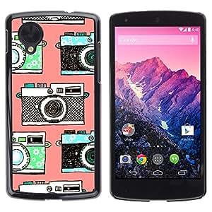 Caucho caso de Shell duro de la cubierta de accesorios de protección BY RAYDREAMMM - LG Google Nexus 5 D820 D821 - Photo Photography