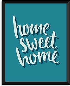 Serif Design Studios Home Sweet Home Retro, Modern, Minimalist Poster, Home Decor, College Dorm Room Decorations, Wall Art