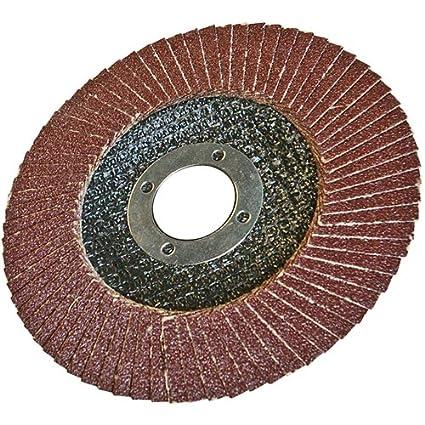 Silverline 598448 Aluminium Oxide Flap Disc 100 mm 40 Grit SLTL4
